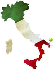 Location map of Alezio, Italy